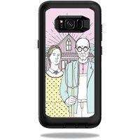 MightySkins Skin For OtterBox Defender Samsung Galaxy S8+ Case - almond blossom | Protective, Durable, and Unique Vinyl Decal wrap cover | Easy To Apply, Remove, and Change Styles | Made in the USA