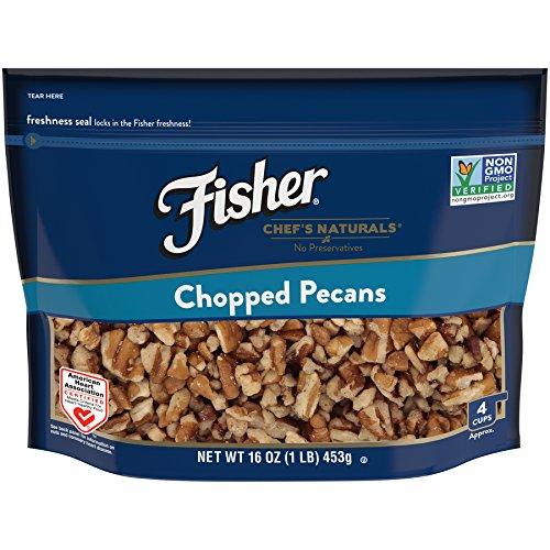 Fisher Chef's Naturals Chopped Pecans, No Preservatives, Non-GMO, 16 oz