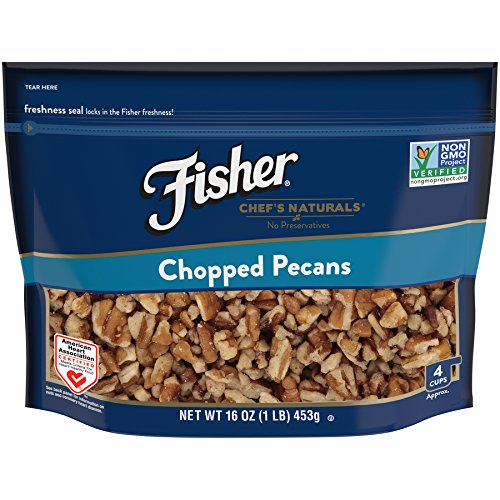 Fisher Chef's Naturals Chopped Pecans, Non-GMO, 16 oz