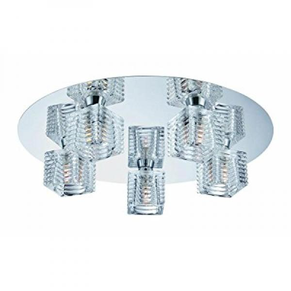 Hampton Bay 5-Light Chrome Olivet Flush Mount by