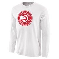 Atlanta Hawks Fanatics Branded Primary Logo Long Sleeve T-Shirt - White