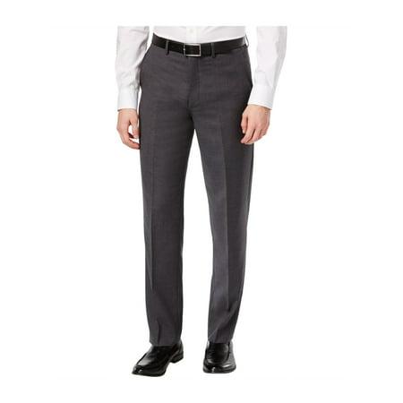 Ryan Seacrest Distinction Mens Wool Dress Pant Slacks (Wool Pants)