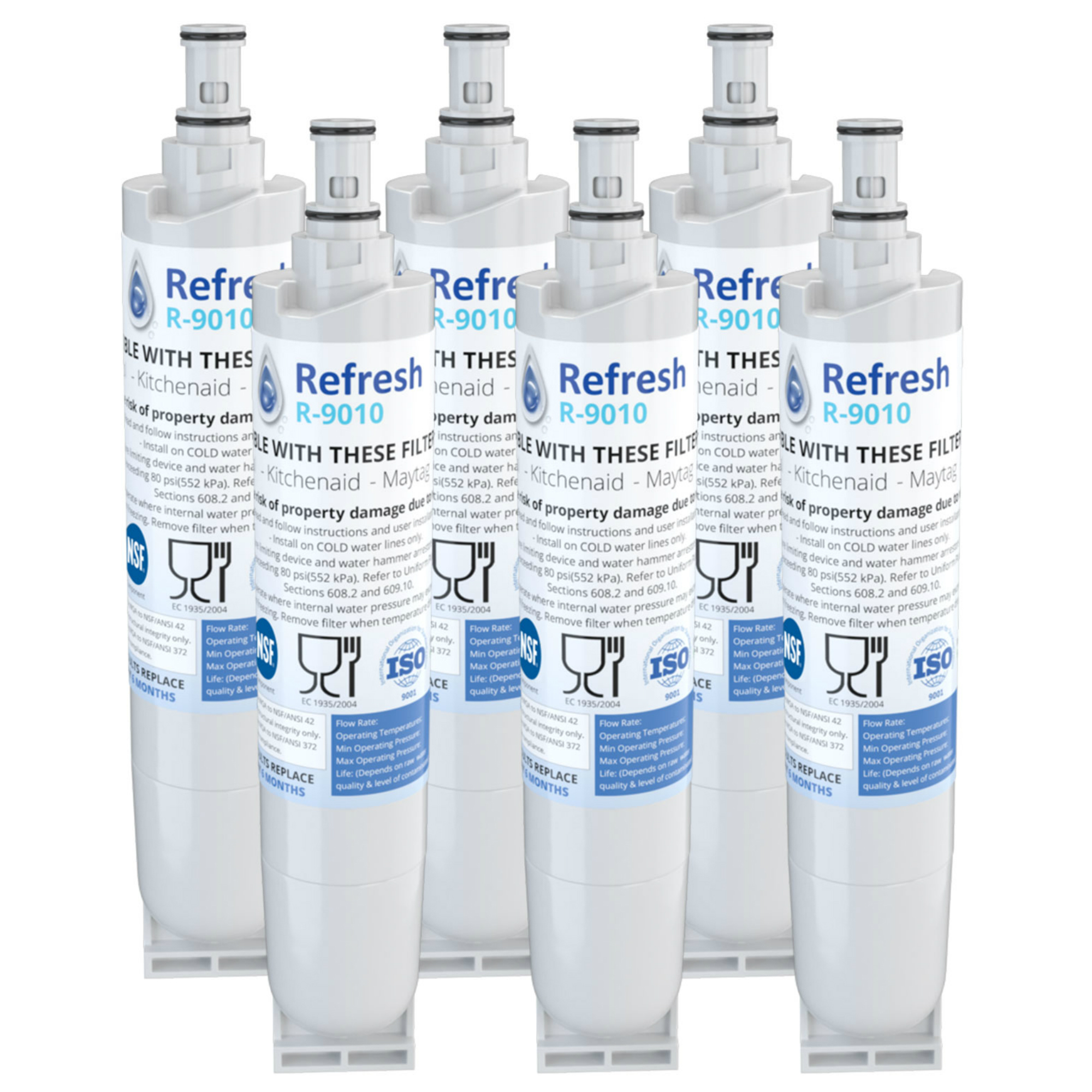 Replacement For Whirlpool Filter 5 Refrigerator Water Filter - by Refresh (6 Pack)