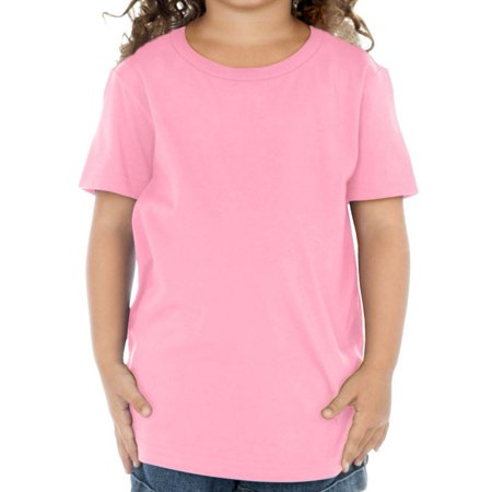 4t Tee - Kavio! Toddlers Crew Neck Short Sleeve Tee (Same TJP0494) Bubblegum Pink 4T