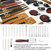 YLSHRF Leather Craft Tool,Leather Tool,Leather Stamping Tool Set for Leathercraft Carving DIY Handmade Art