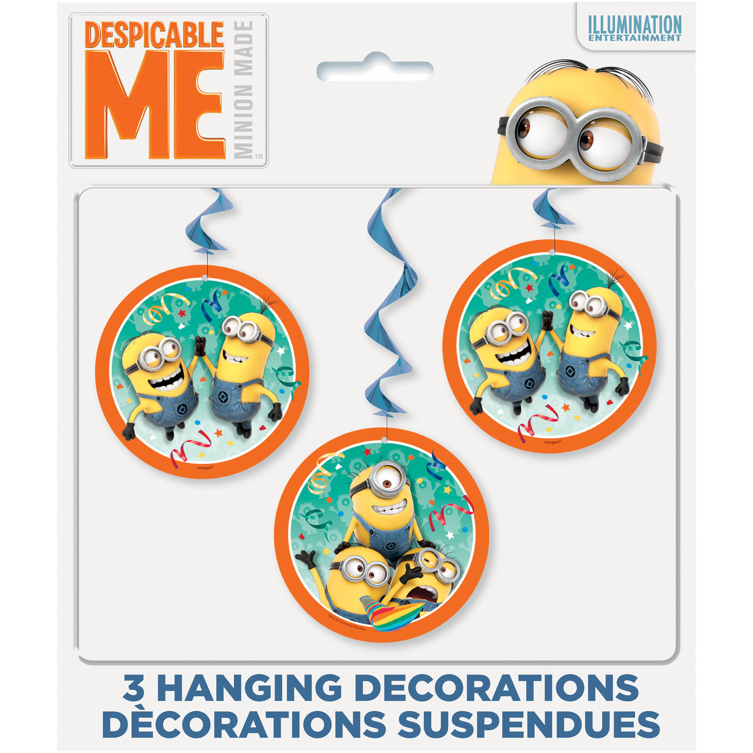 "26"" Hanging Despicable Me Minions Decorations, 3ct"