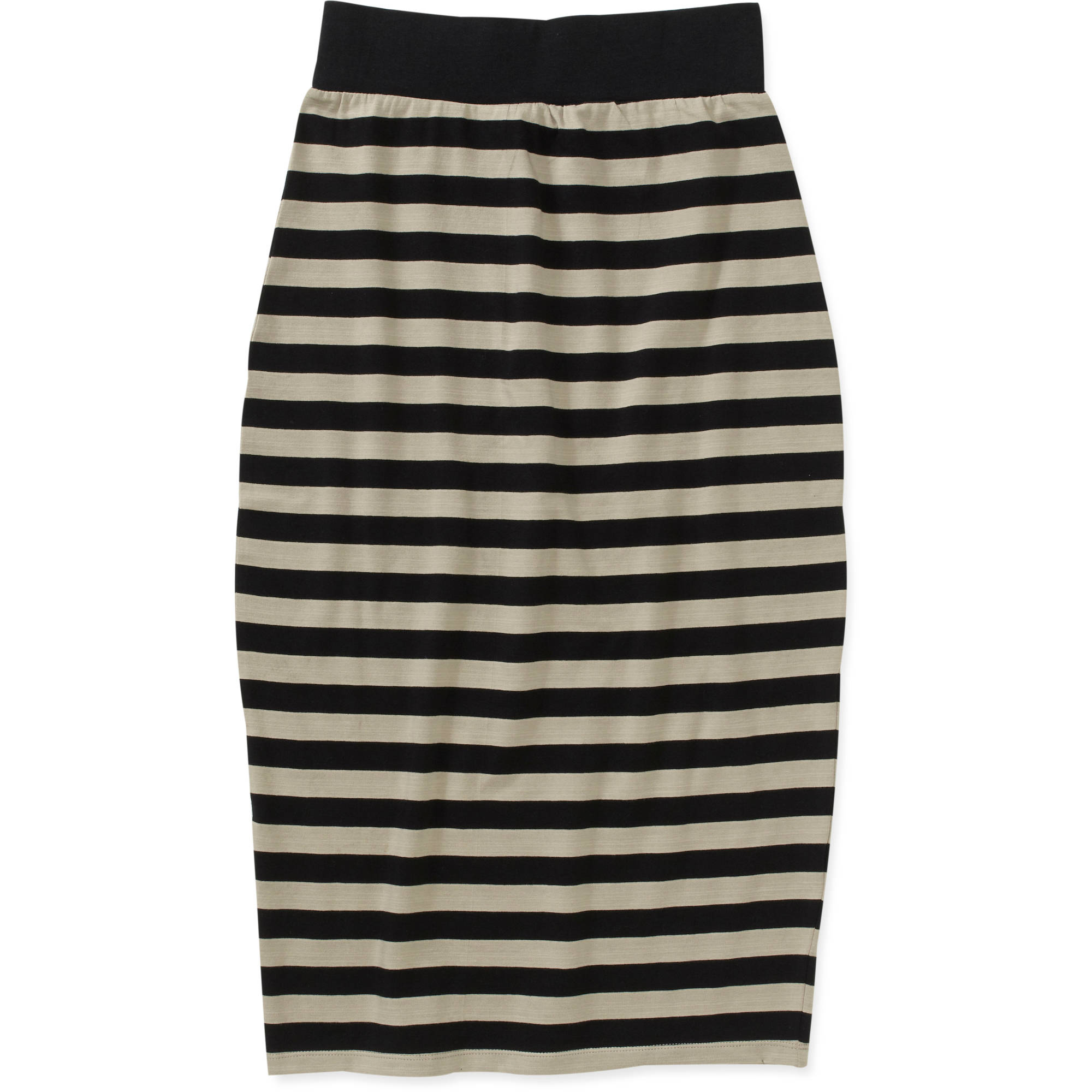 Women's Striped Knit Bodycon Skirt