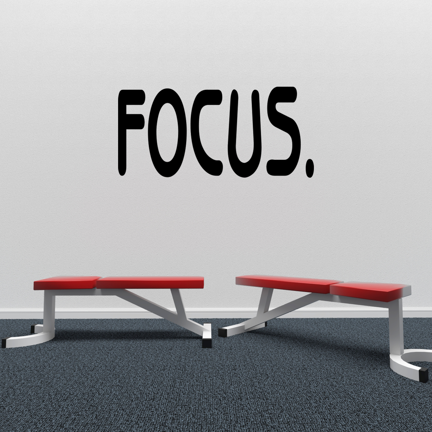"""Focus Gym Workout Fitness Vinyl Wall Decal 8/"""" x 32/"""""""