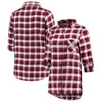 Texas A&M Aggies Concepts Sport Women's Plus Size Piedmont Flannel Long Sleeve Button-Up Top - Maroon/Black