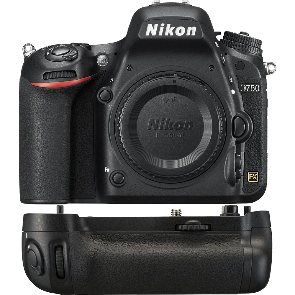 Nikon D750 DSLR 24.3MP HD 1080p FX-Format Digital Camera Power Pack Bundle includes Camera and MB-D16 Multi Battery Power Pack