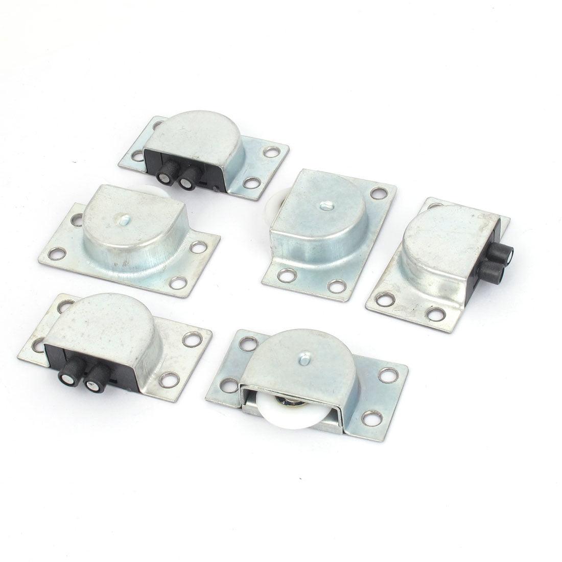 3 Pair 1 White Plastic Wheel Metal Sliding Door Roller Set For