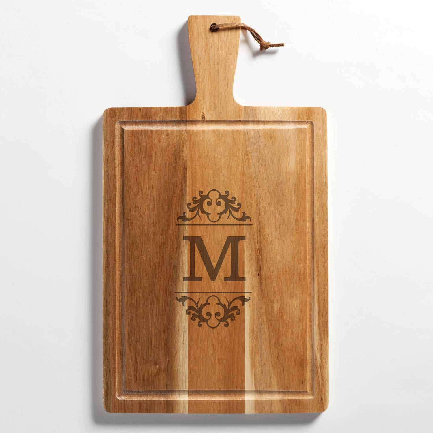 Personalized Scroll Initial Carving Board