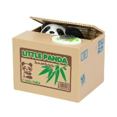Little Panda Coin Stealing Money Piggy Bank