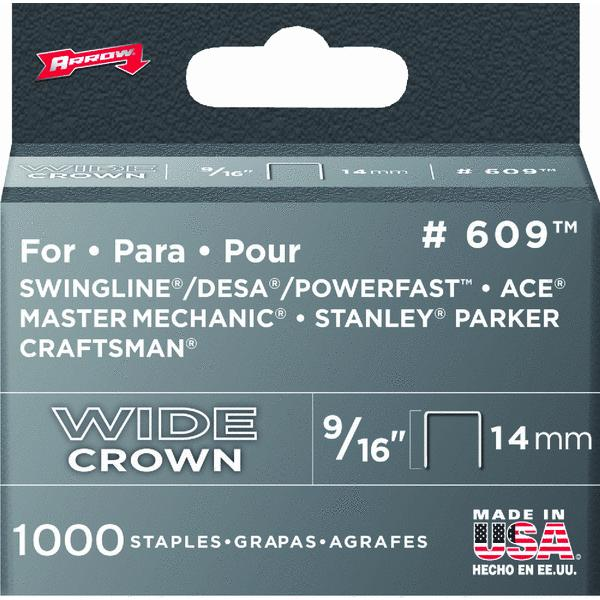 Arrow Fastener 9/16'' Wide Crown Heavy Duty Staples 60930