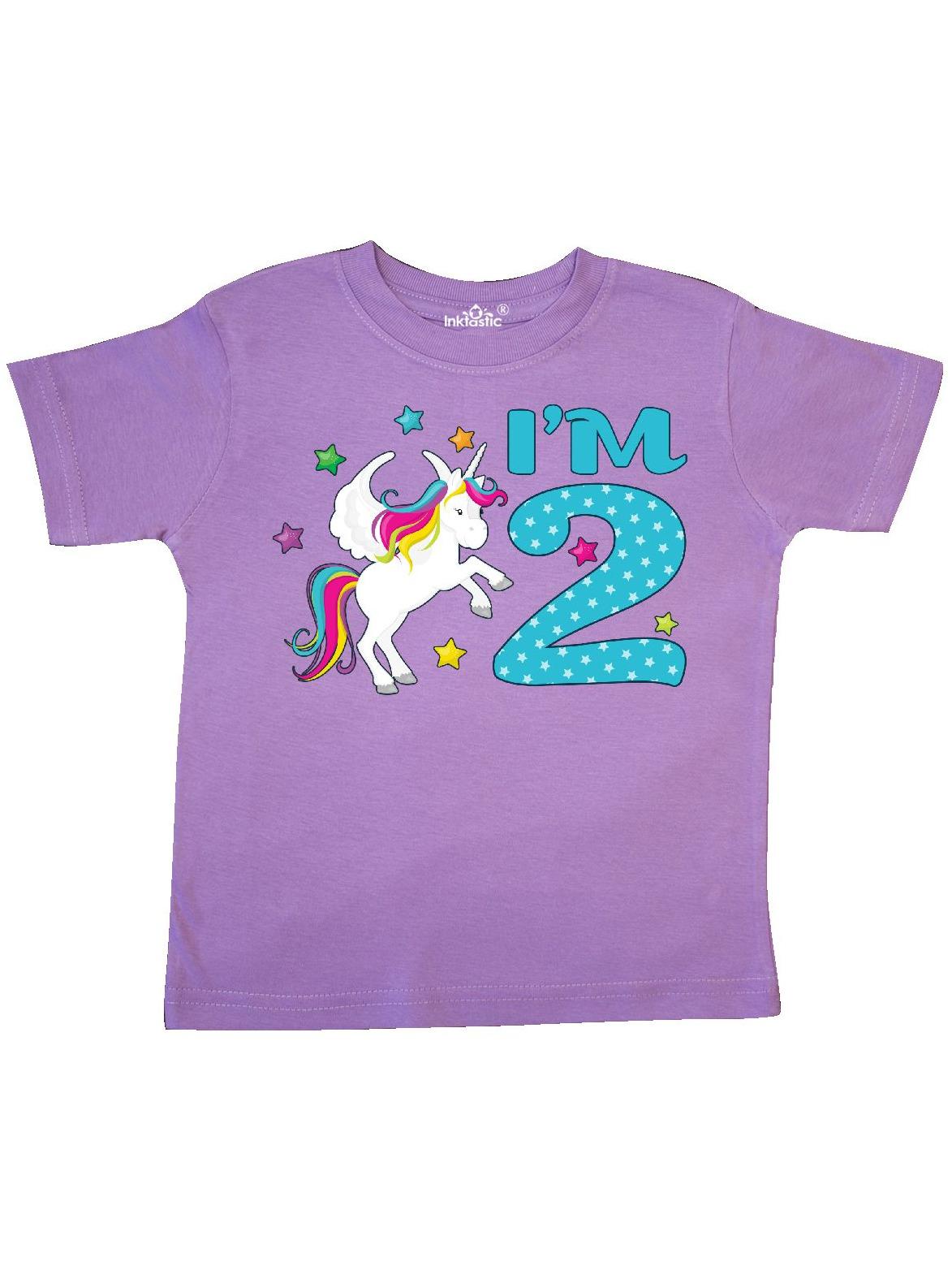I'm Two- Unicorn Second Birthday Toddler T-Shirt