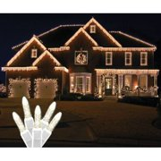 Christmas at Winterland S-ICM5WW-IW Standard Icicle Lights M5 LED Warm White Fac