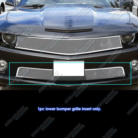 Compatible with 2010-2013 Chevy Camaro SS V8 Bumper Stainless Steel Mesh Grille Grill Insert C76742T Aps Ss Wire Mesh