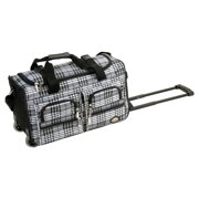 Rockland Luggage 22 in. Leopard Print Rolling Duffle Bag
