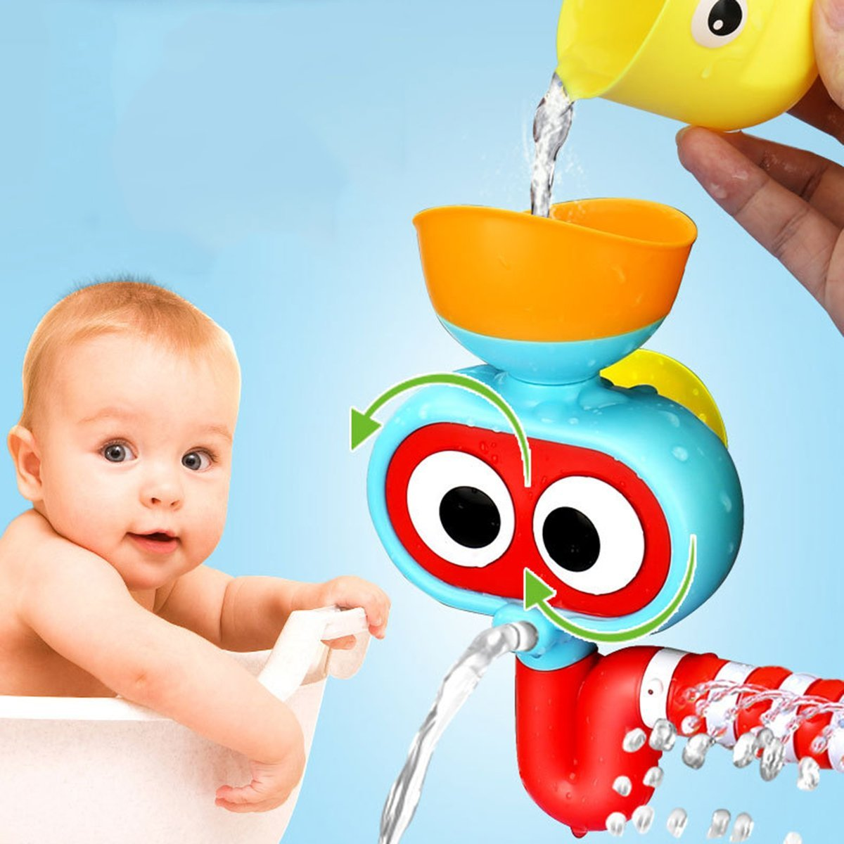 Baby Bath Toy - Waterfall Water Station, Enhance Your Baby\'s ...