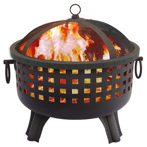 Landmann Garden Series Savannah Fire Pit, Black