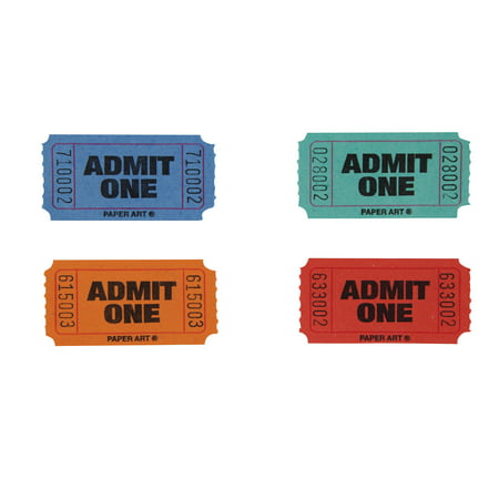 Single Color Raffle Tickets Roll](The Garage Halloween Tickets)