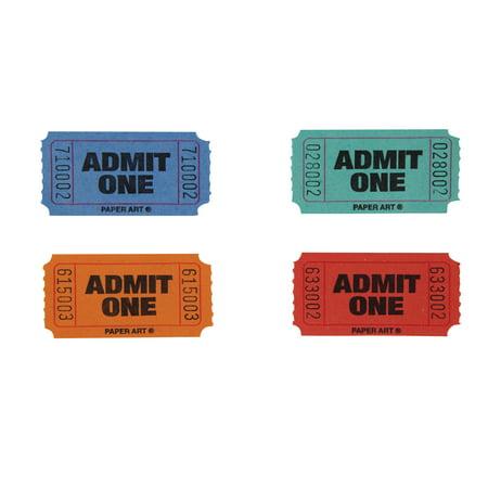 - Single Color Raffle Tickets Roll