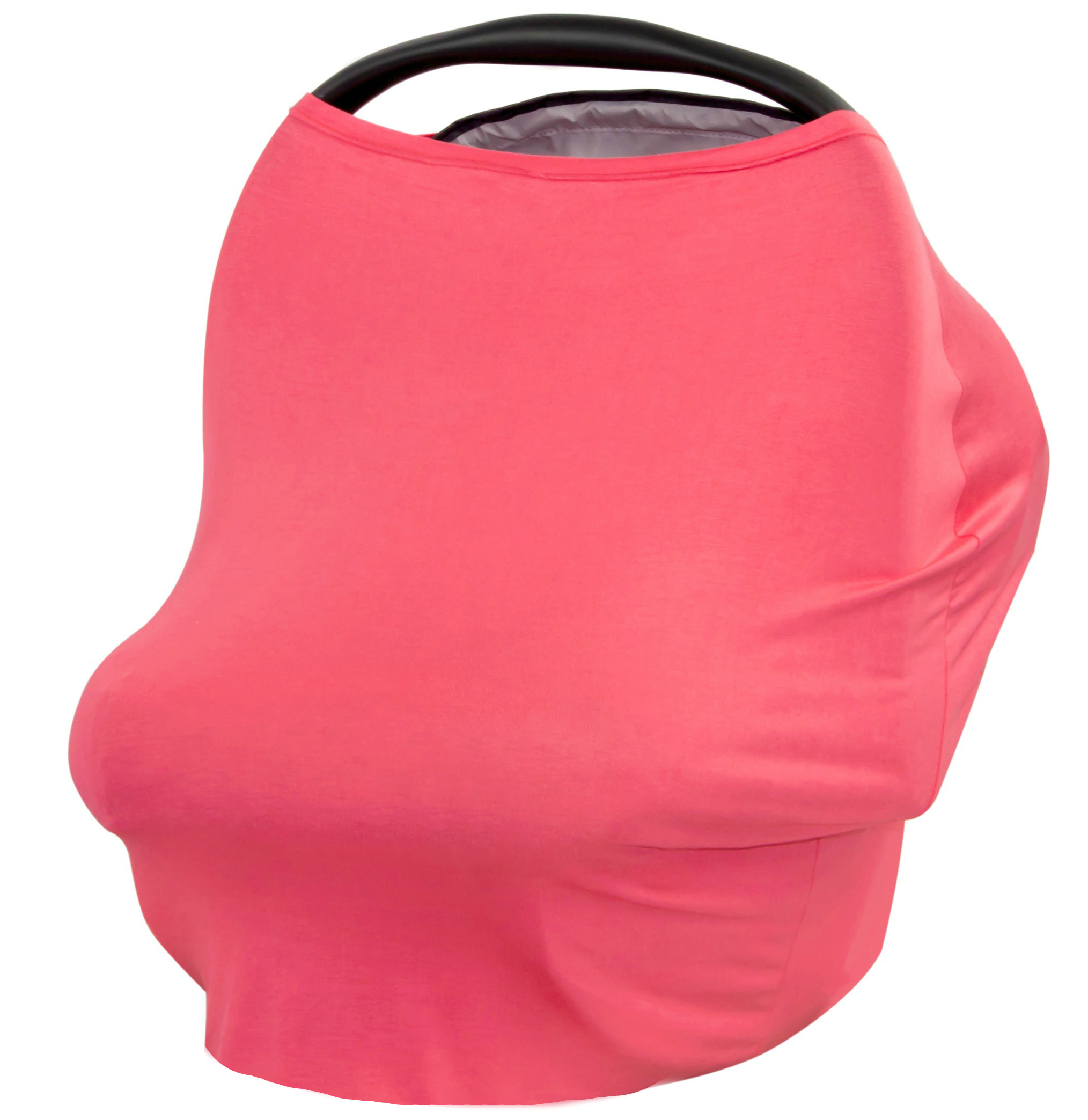 JLIKA Baby Car Seat Canopy Cover and Stretchy Nursing Cover - Coral