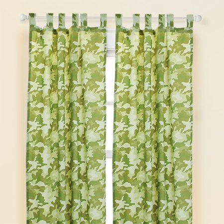 Safari Camo Curtain Panels Camouflage Window Treatment