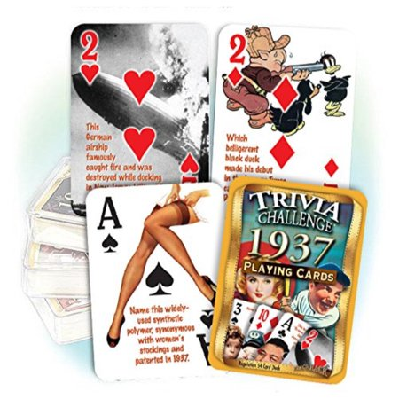 1937 Trivia Playing Cards 81st Birthday Or Anniversary Gift