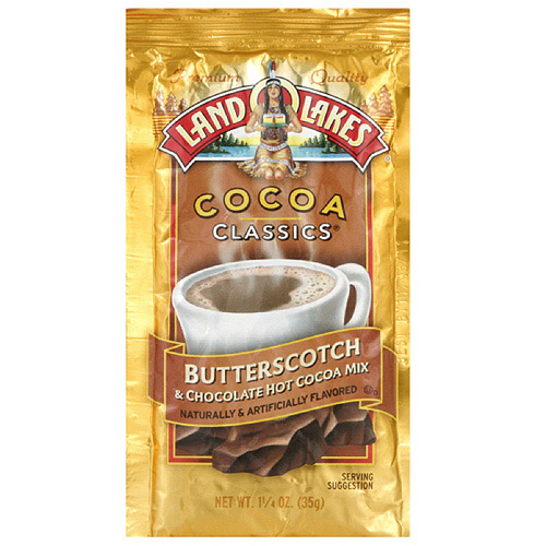 Land O Lakes Classic Butterscotch & Chocolate Cocoa Mix, 1.25 oz (Pack of 12)