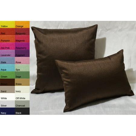 Aiking Home Solid Faux Silk Decorative Throw Pillow COVER 40 By 40 Amazing Faux Silk Decorative Pillows