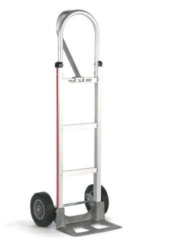 "Assembled Magliner Hand Truck 52"" Tall 14"" Nose 10"" Semi-Pneumatic Tire (USA) by Magline Modular"