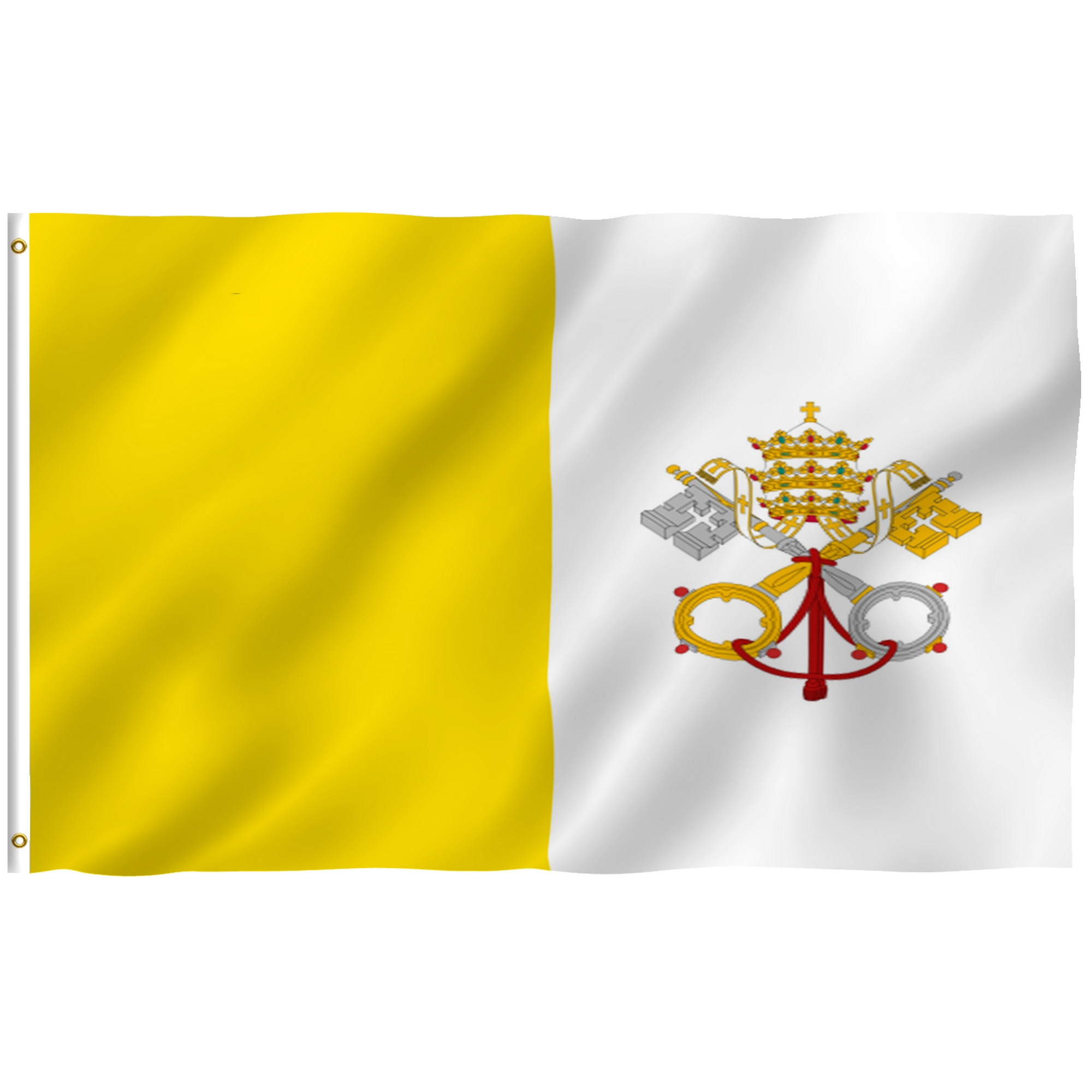 ANLEY [Fly Breeze] 3x5 Foot Vatican Flag Vivid Color and UV Fade Resistant... by Anley
