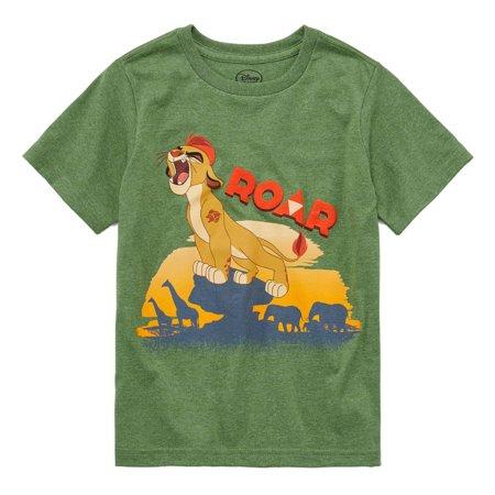 Disney Boys Green The Lion Guard Kion Character T-Shirt