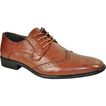 BRAVO/KING-2 Dress Shoe Classic Oxford Leather Lining Brown Matte