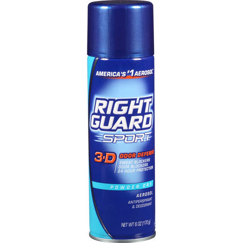 Right Guard Sport Antiperspirant Deodorant Aerosol Spray, Powder Dry, 6 Oz