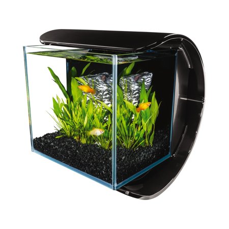 MarineLand 3-Gallon Silhouette Glass LED Aquarium Kit - Fish Glasses