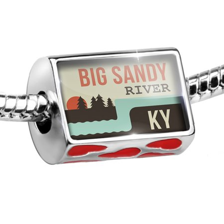 Bead USA Rivers Big Sandy River - Kentucky Charm Fits All European Bracelets ()