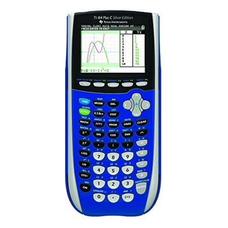 texas instruments ti-84 plus c silver edition graphing calculator with color display