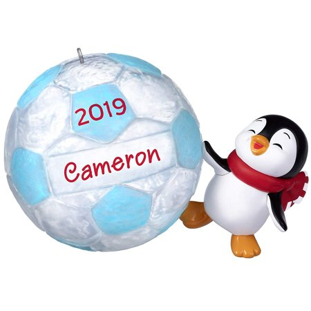 Hallmark Keepsake Christmas 2019 Year Dated Soccer Star Penguin DIY Personalized Ornament, (Penguin Soccer)