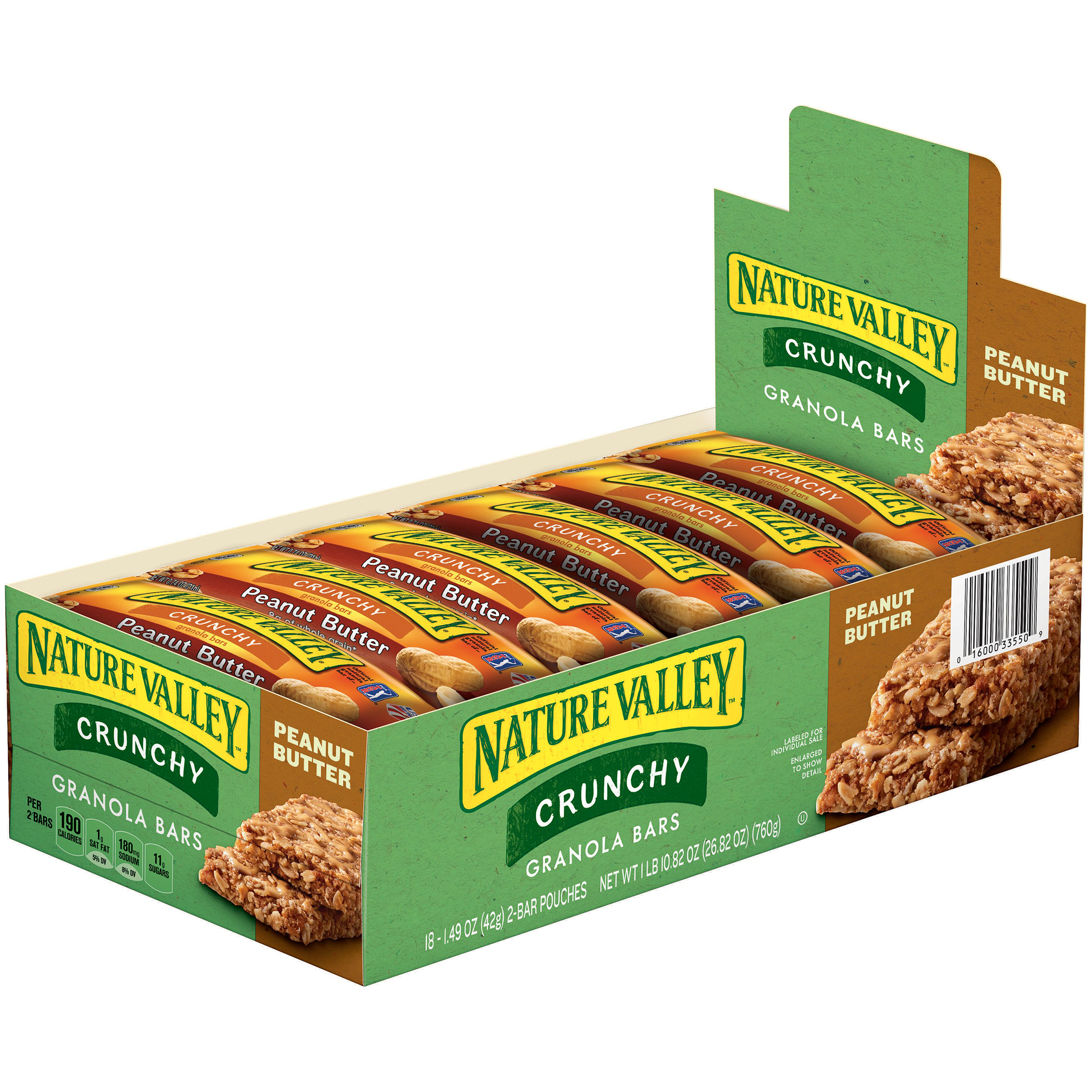 Nature Valley��� Peanut Butter Crunchy Granola Bars 18-2 ct Pouches