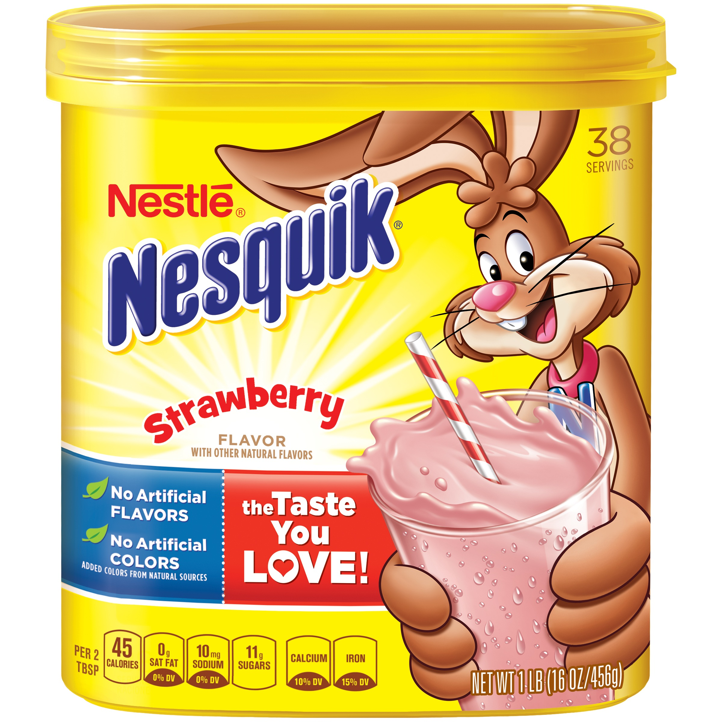 NESTLE�� NESQUIK�� Strawberry Flavored Powder 1 lb. Canister