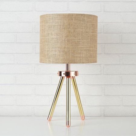 Urban Shop Copper Linen Table Lamp With Wooden Legs, 1 Each - 45 Christmas Story Leg Lamp