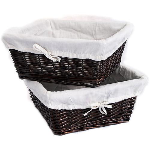 Burlington - Set of 2 Large Storage Baskets, Espresso