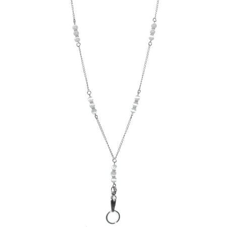 Hidden Hollow Beads Stainless Steel Necklace, 34