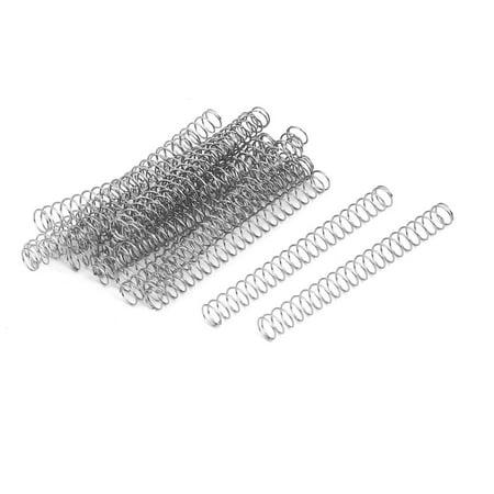 0.4mmx5mmx50mm acier inox 304 Compression Ressort Argenté 20pc - image 3 de 3