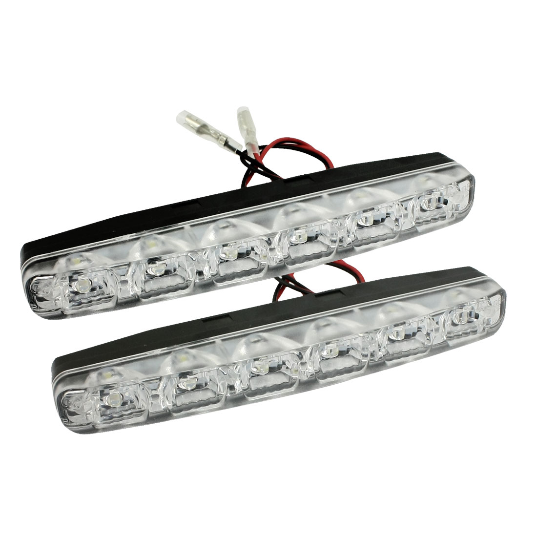 Unique Bargains Unique Bargains 2 Pcs 6  White DRL Daytime Running Lamp Car Fog Light Headlamp Wire