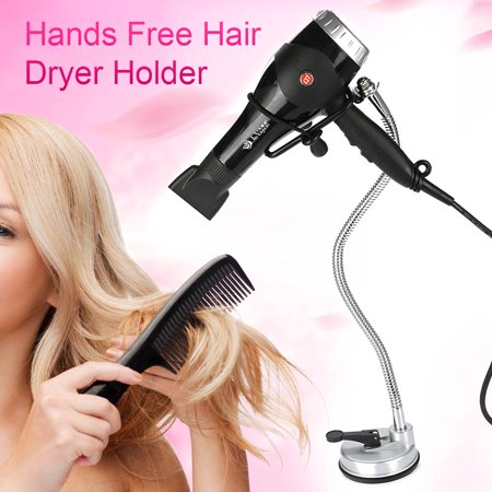 Tbest 360°Freely Rotation Hair Dryer Holder Hands Free Removable Suction Cup Stand, Hair Dryer Stand,Hair Dryer Holder