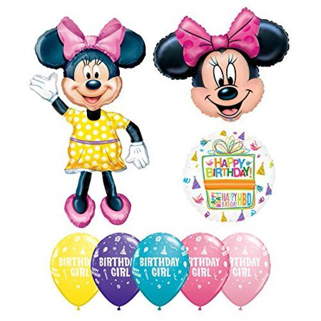 Minnie Mouse Party Supplies Birthday Girl Balloon Bouquet Decorations
