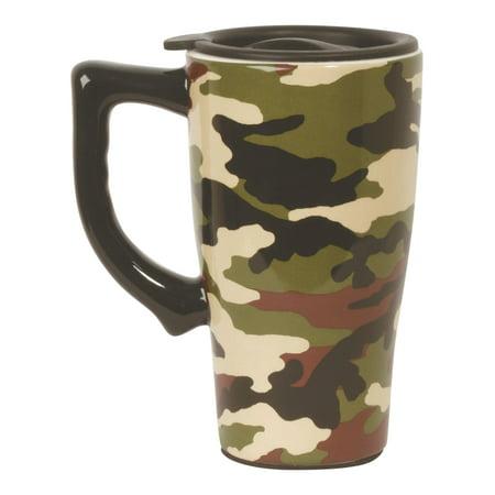 Camouflage Ceramic Travel Mug